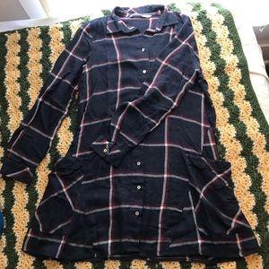 Zara plaid schoolgirl flannel dress